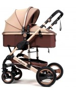 Baby Stroller Belecoo Q3 for 0 - 36 month  - Brown,,