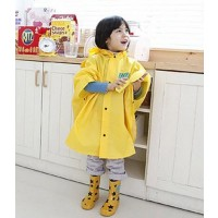 Korea cute children raincoat baby cartoon polyester infantry - Yellow,,