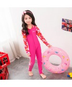 Children's Swimming Suite Long Sleeved  Sunscreen One Piece For Girls,,
