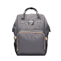 Diaper Bag Multi-Function Waterproof Travel Backpack Nappy Bags. Available 7 Color-Grey,,color Grey