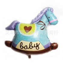 Large Horse Balloon Size 90 cm — Blue,,