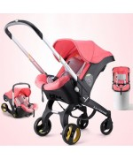 4 in 1 Car Seat Stroller Multi-Function G301 Lightweight — Pink,,