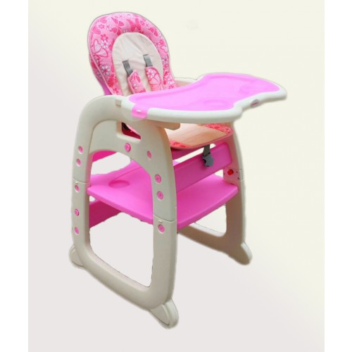 Baby High Chair Toddler Desk 2 In 1 Hc30d Pink
