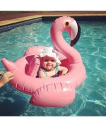 Inflatable Flamingo Baby Pool Float - Pink,,