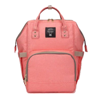 Diaper Bag Multi-Function Waterproof Travel Backpack Nappy Bags. Available 7 Color-Coral Pink,,color Coral