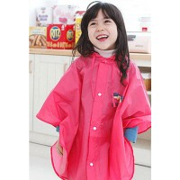 Korea cute children raincoat baby cartoon polyester infantry - Pink,,