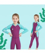 Kids Swimming Suite Sunscreen UPF50+ Long Sleeve – Blue / Purple,,