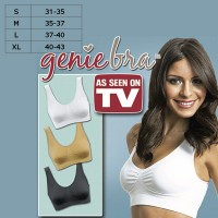 Genie Bra 3pcs Classic [Black, White, Brown] S...XL