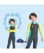 Kids Swimming Suite Sunscreen UPF50+ Long Sleeve – Green / Gray,,