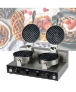 Dual Round Waffle Machine WF-2 Waffle Maker Stainless Steel,,