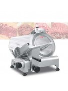 420Watt Frozen Meat Slicer 300ES-12 [Size : 530*460*460mm] Semi-automatic electric 220VAC,,color Silver
