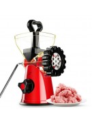 Multifunction High Quality Mini Manual Meat Grinder Size 9 x 10.5 x 17 cm - Red,,