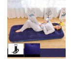 JILONG Inflatable Air Bed Mat Set Size 191 x 73 x 22 cm with Hand Pump and Repair Kit - Dark Blue,,