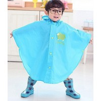Korea cute children raincoat baby cartoon polyester infantry - Blue,,