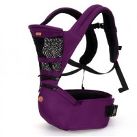 Aiebao 2in1 Baby Hip Seat and Carriers - Purple,,color Purple