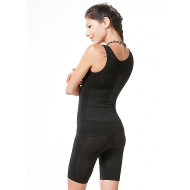 Body Slimming Suit [Color : Black]